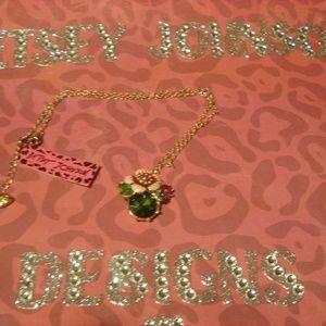 Betsey Johnson Flower/Bauble Sweater Chain